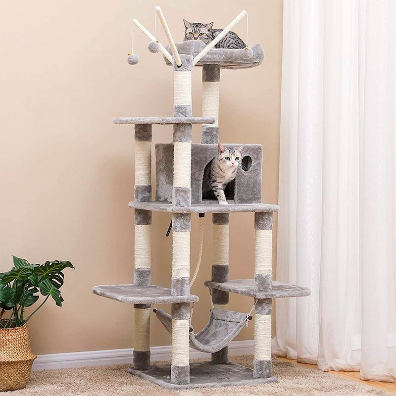 Rascador para gatos robusto y estable