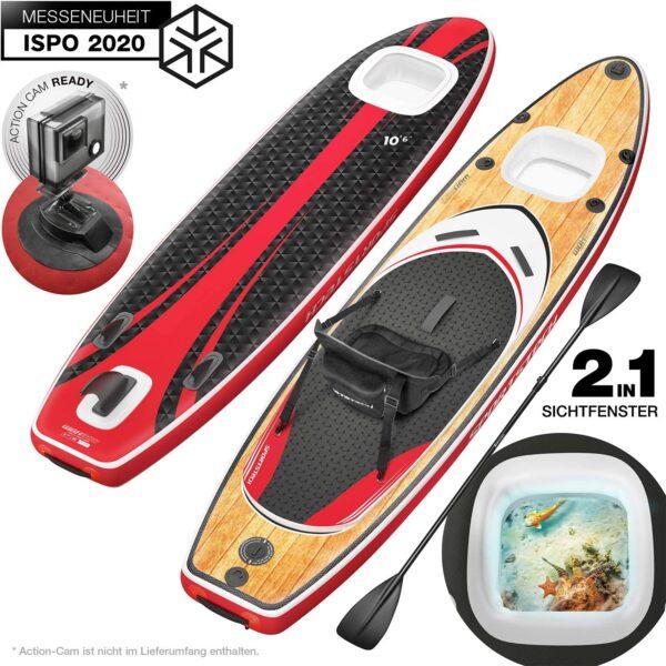 Tabla de Paddle Surf - WBX con ventana 2 en 1